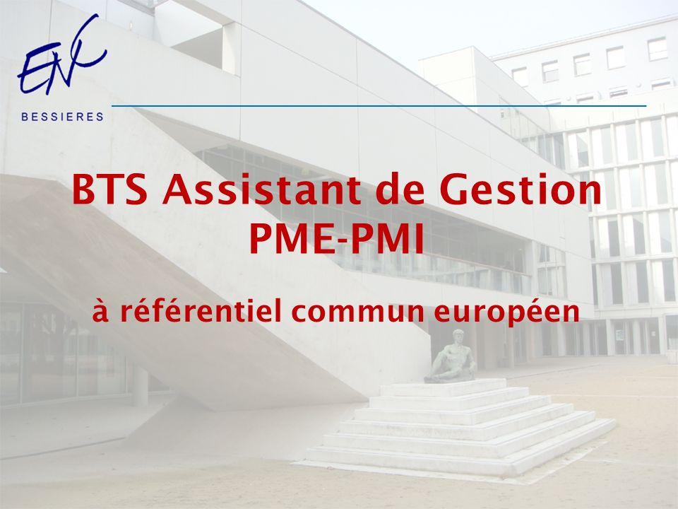 BTS Assistant de Gestion PME-PMI à référentiel commun européen