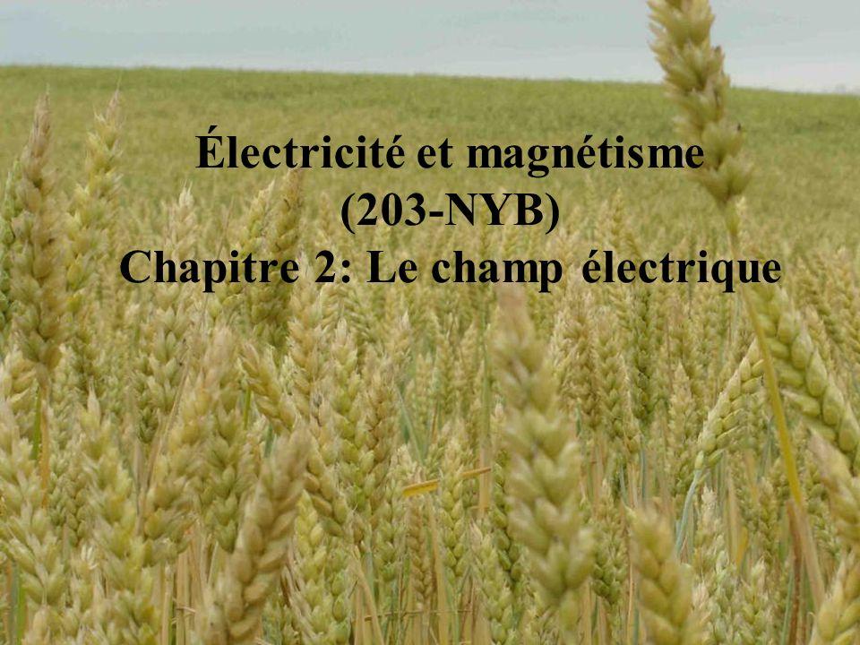 Électricité et magnétisme (203-NYB) Chapitre 2: Le champ électrique