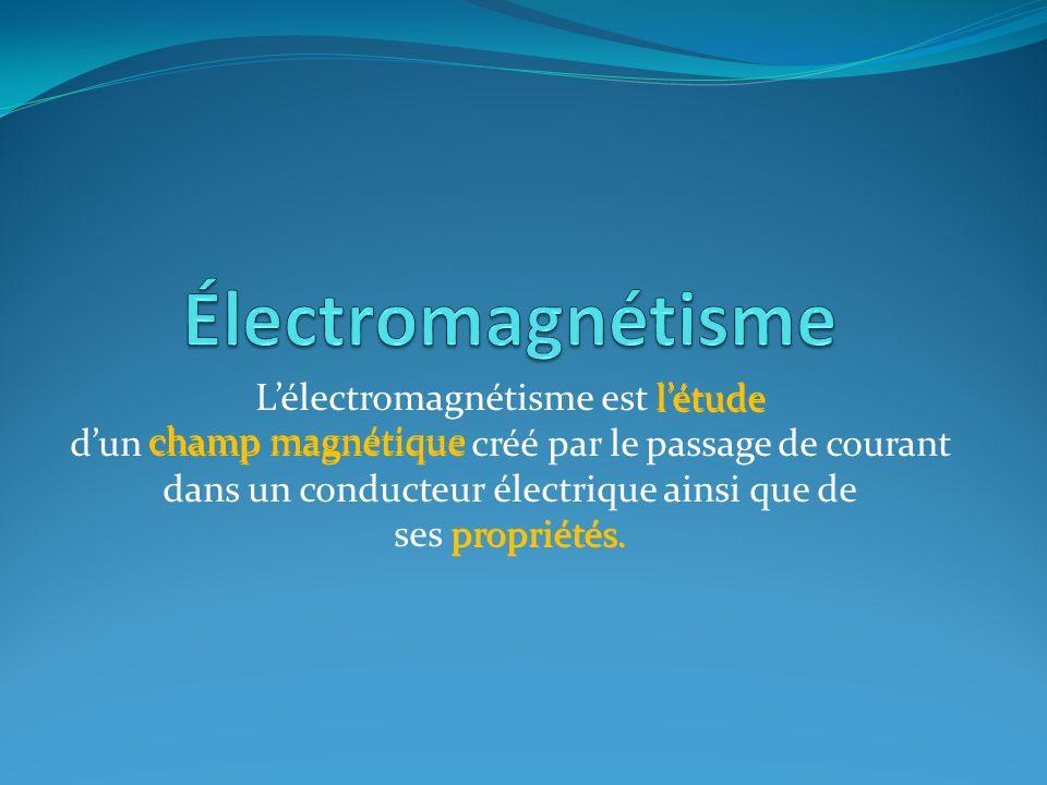 Lélectromagnétisme est létude dun champ magnétique créé par le passage de courant dans un conducteur électrique ainsi que de ses propriétés.