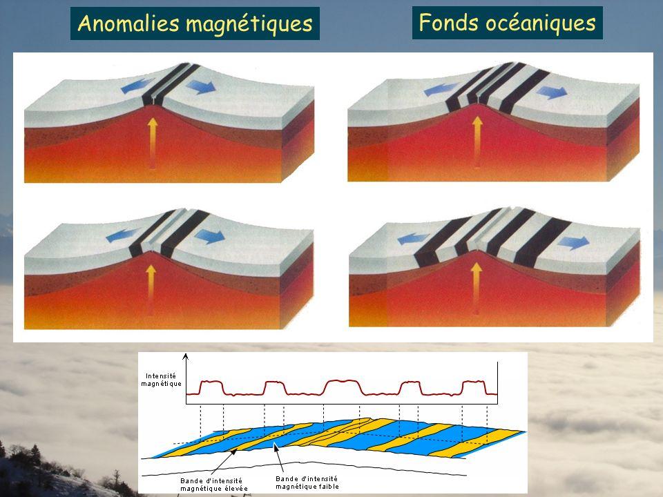 Fonds océaniques Anomalies magnétiques