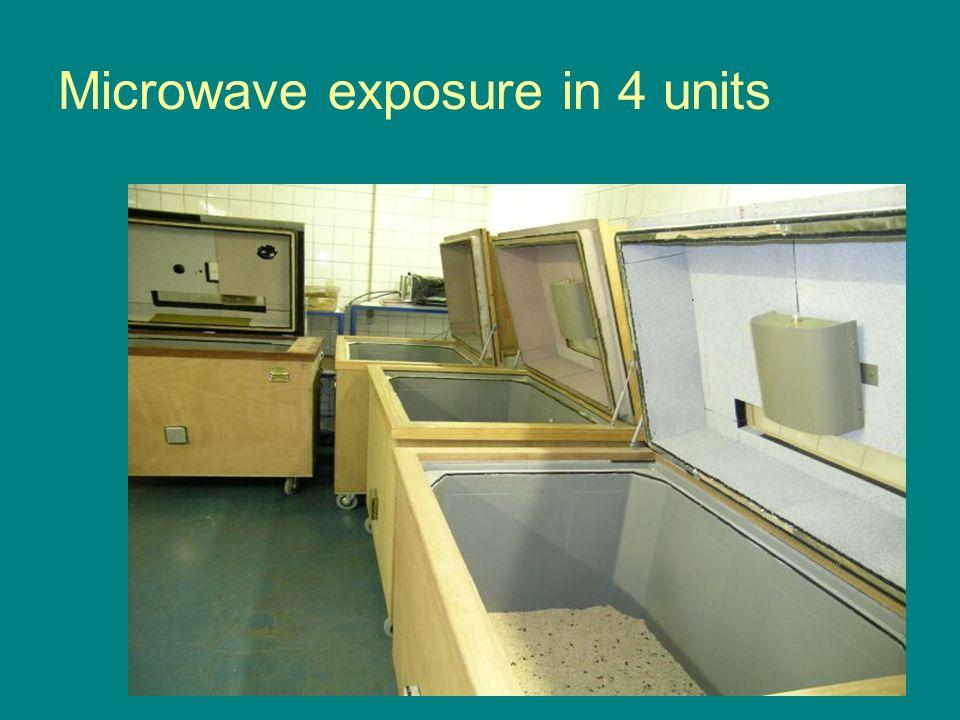Microwave exposure in 4 units