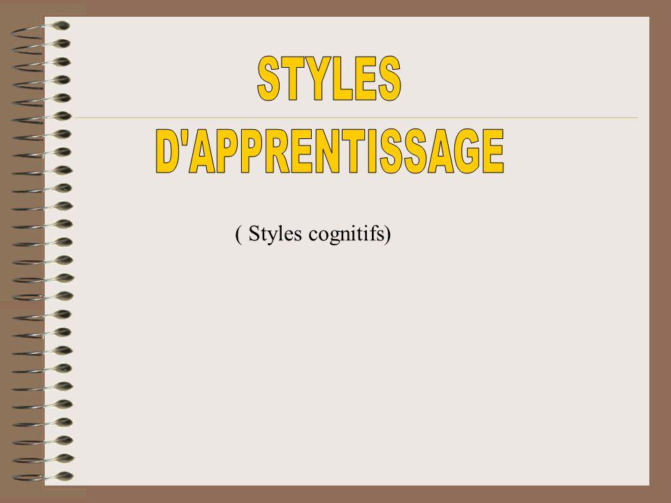 ( Styles cognitifs)