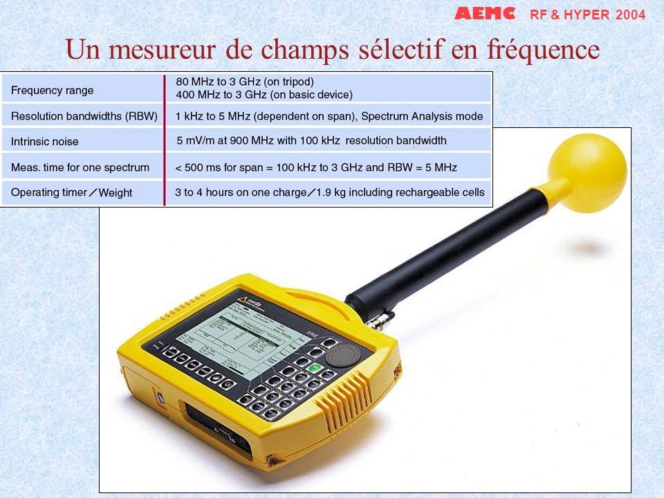 Un mesureur de champs sélectif en fréquence AEMC RF & HYPER 2004