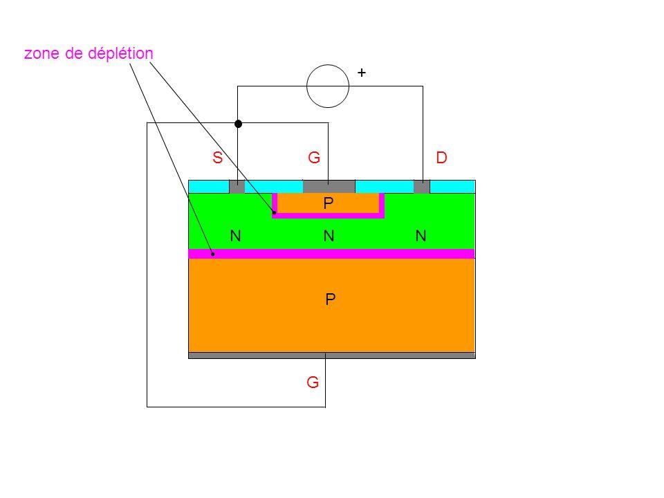 SGD N G + P P zone de déplétion NN