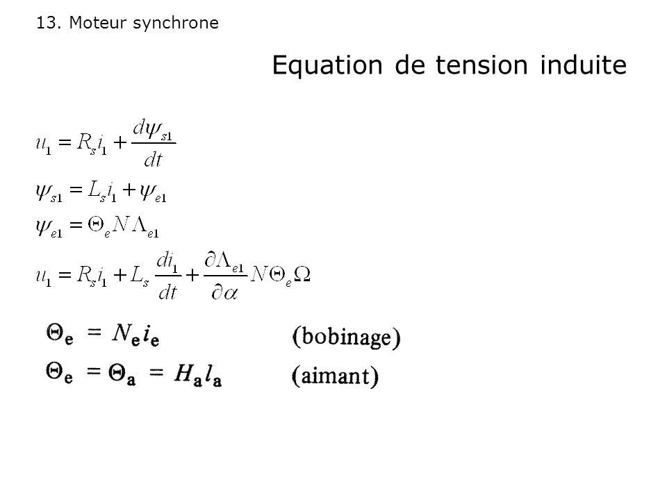 13. Moteur synchrone Equation de tension induite