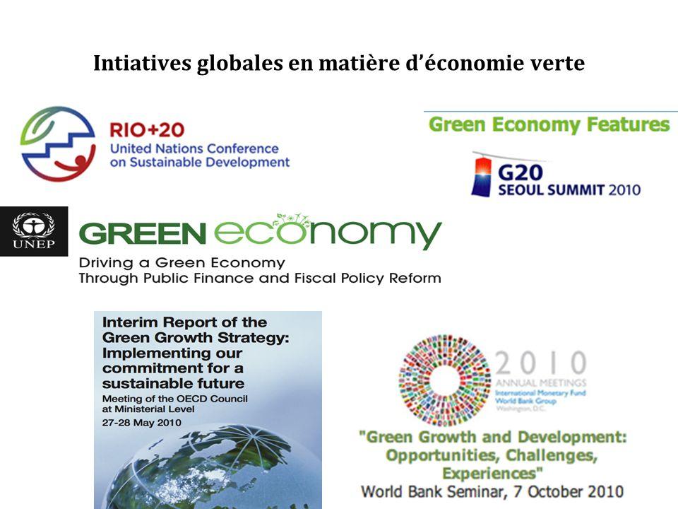 Intiatives globales en matière déconomie verte
