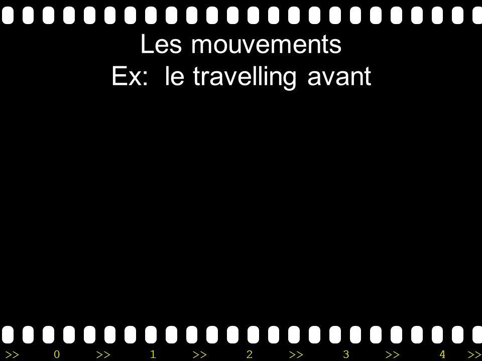 >>0 >>1 >> 2 >> 3 >> 4 >> Les mouvements Ex: le travelling avant