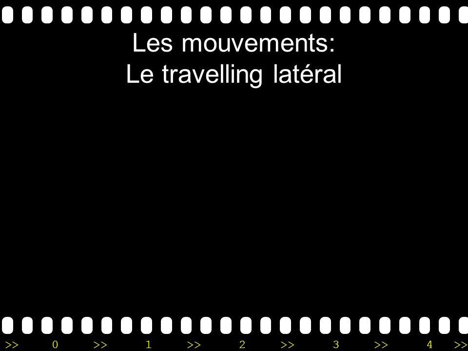 >>0 >>1 >> 2 >> 3 >> 4 >> Les mouvements: Le travelling latéral