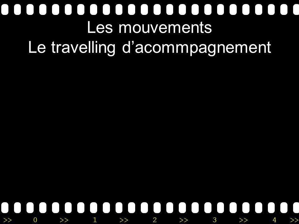 >>0 >>1 >> 2 >> 3 >> 4 >> Les mouvements Le travelling dacommpagnement