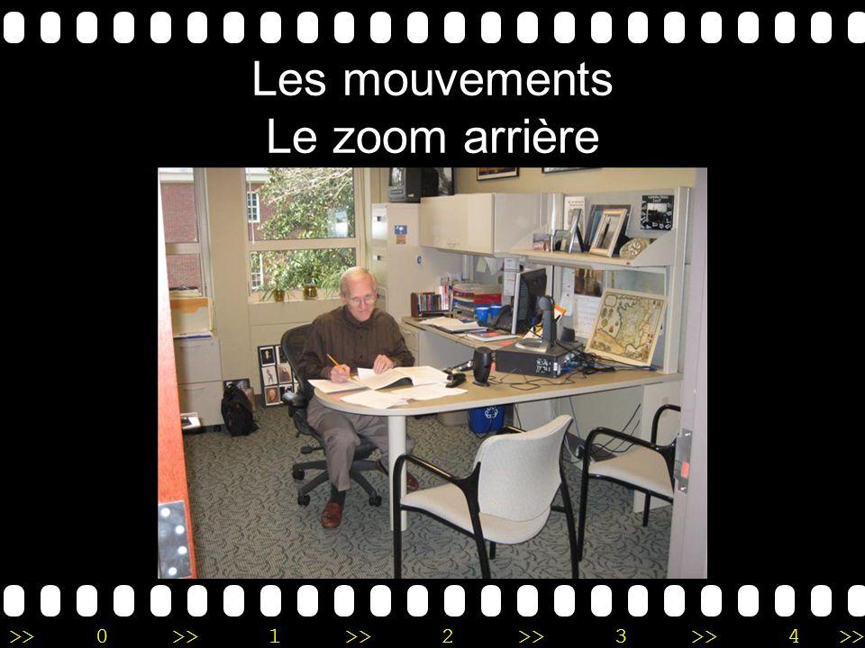 >>0 >>1 >> 2 >> 3 >> 4 >> Les mouvements Le zoom arrière