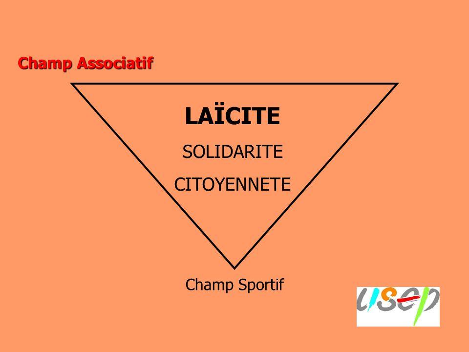 Champ Associatif Champ Sportif LAÏCITE SOLIDARITE CITOYENNETE