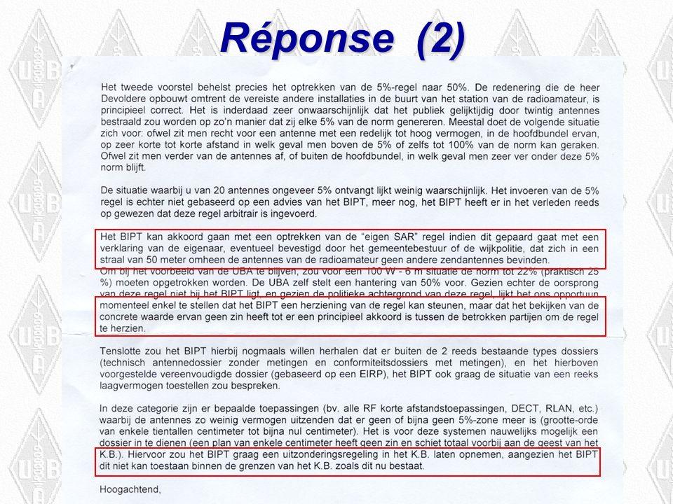 Réponse (2)