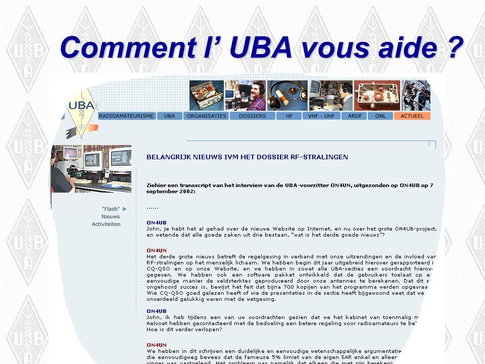Comment l UBA vous aide
