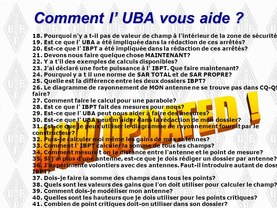 Comment l UBA vous aide . 18.