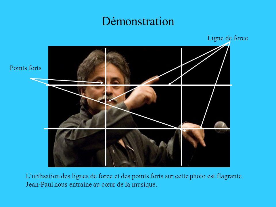 Démonstration Lutilisation des lignes de force et des points forts sur cette photo est flagrante. Jean-Paul nous entraîne au cœur de la musique. Point