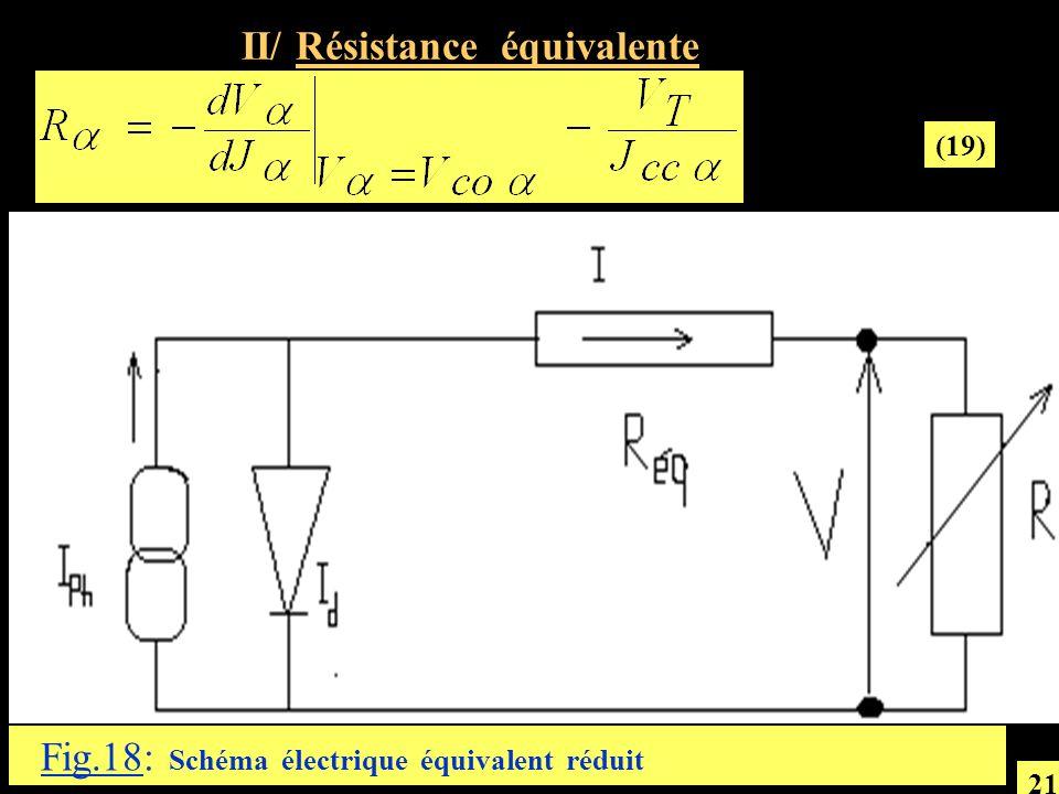 Fig.18: Schéma électrique équivalent réduit II/ Résistance équivalente (19) 21