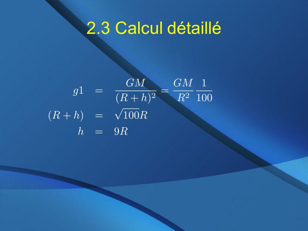2.3 Calcul détaillé