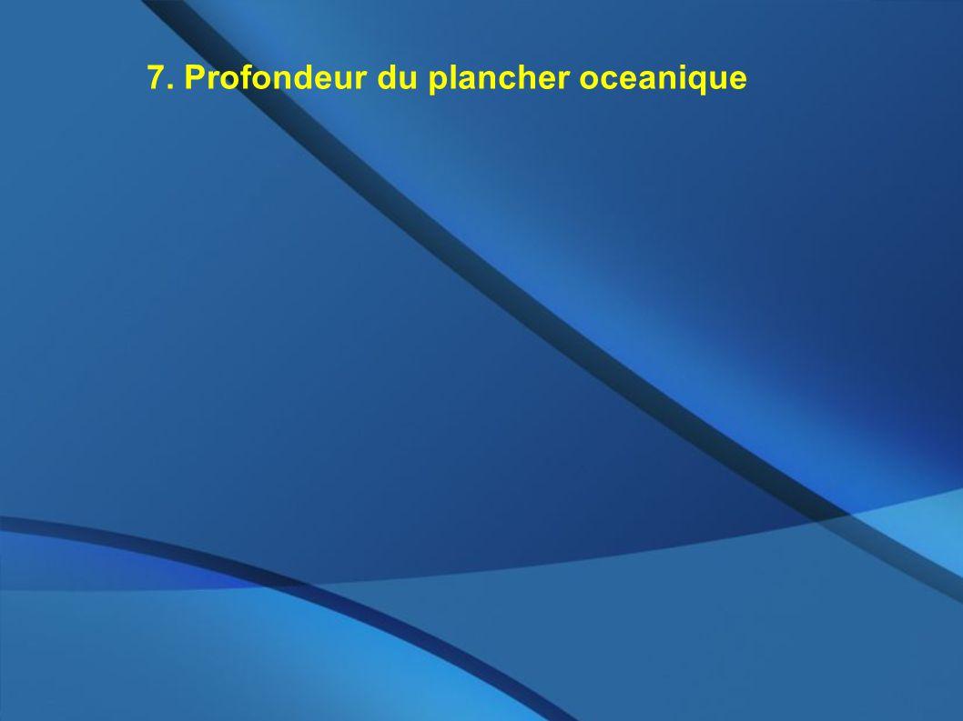 7. Profondeur du plancher oceanique
