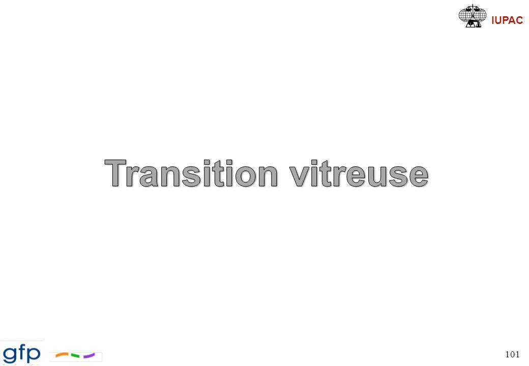 IUPAC Température de transition vitreuse 102, 500 ps, 1 000 ps, … Temps simulé << temps de Rouse
