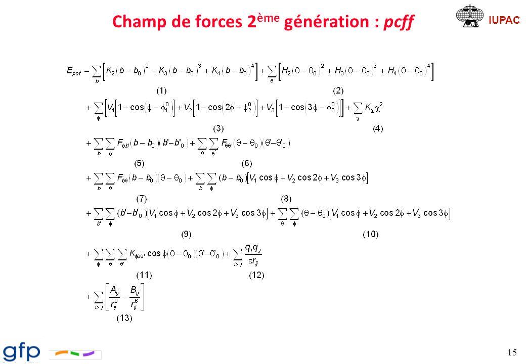 IUPAC Tentative de représentation schématique de pcff 16 connectivité + flexibilité termes croisés termes non-liants