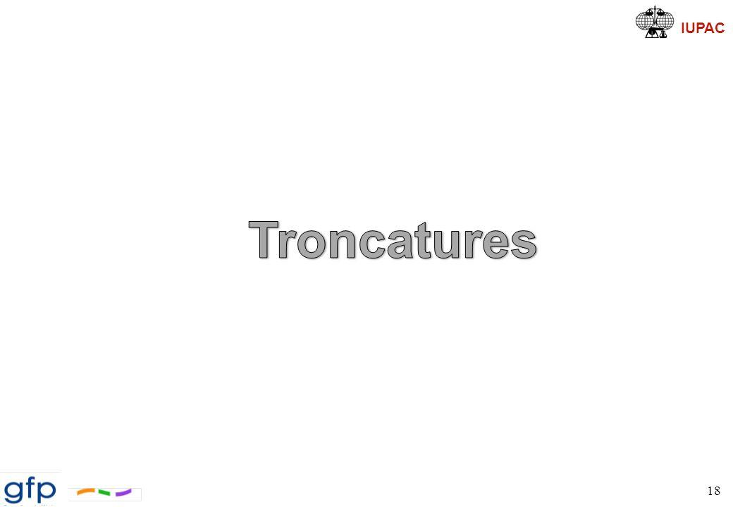 IUPAC Troncatures Pourquoi des troncatures (cut-off) du potentiel .