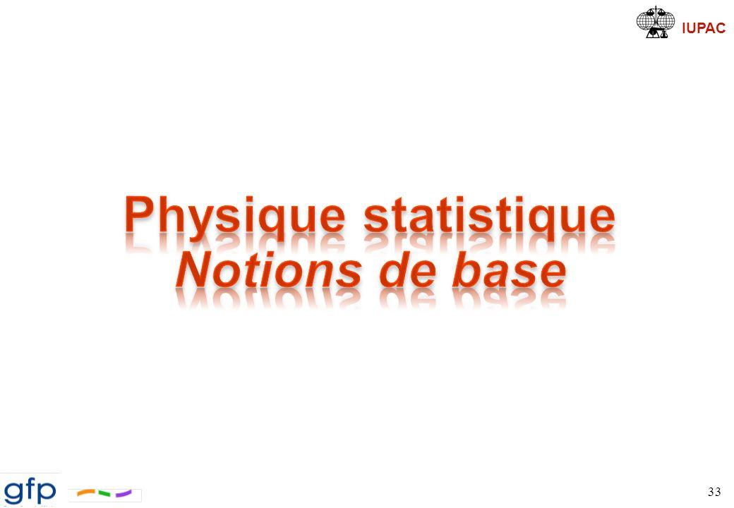 IUPAC Physique Statistique Principe 34 ChaîneURMorphologie Comportement Physique Échelle de longueur Microscopique Macroscopique Mesoscopique Modélisation Moléculaire Ingénierie (Modélisation)