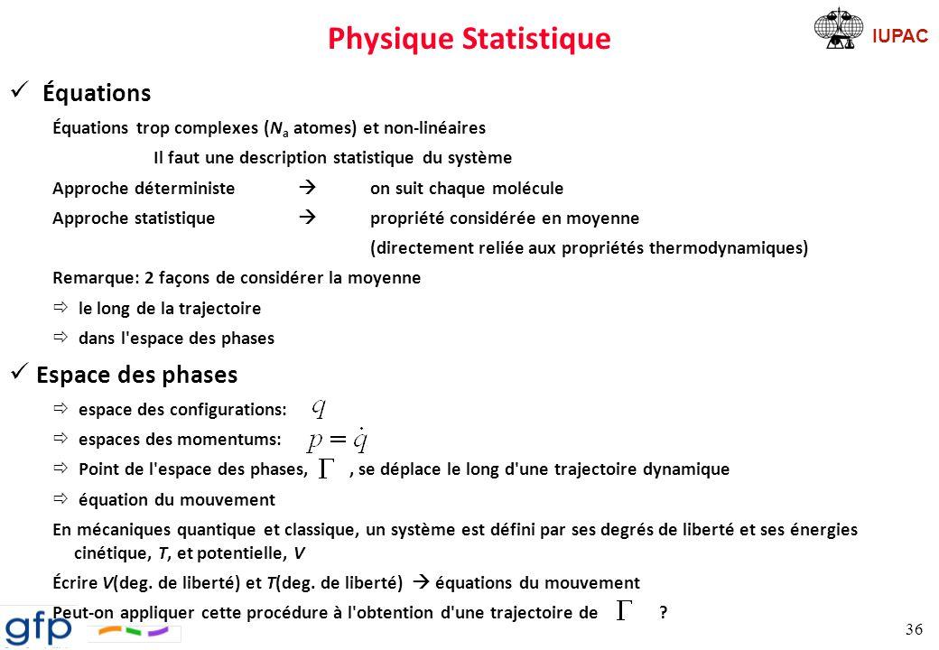 IUPAC Exemple despace de phases Loi de Hooke Conditions initiales: 37
