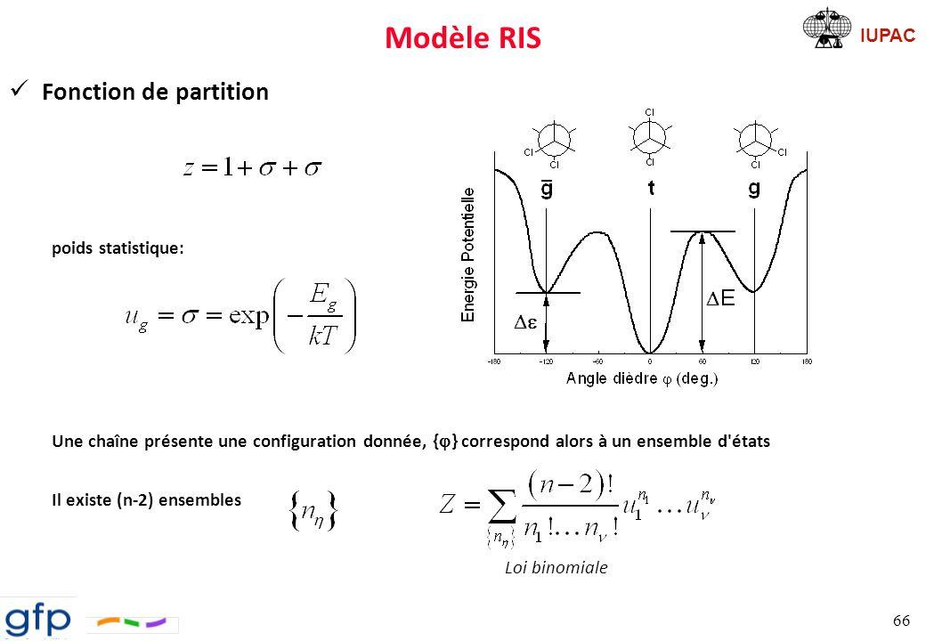 IUPAC Modèle RIS Cas d un homopolymère monomère à 1 .