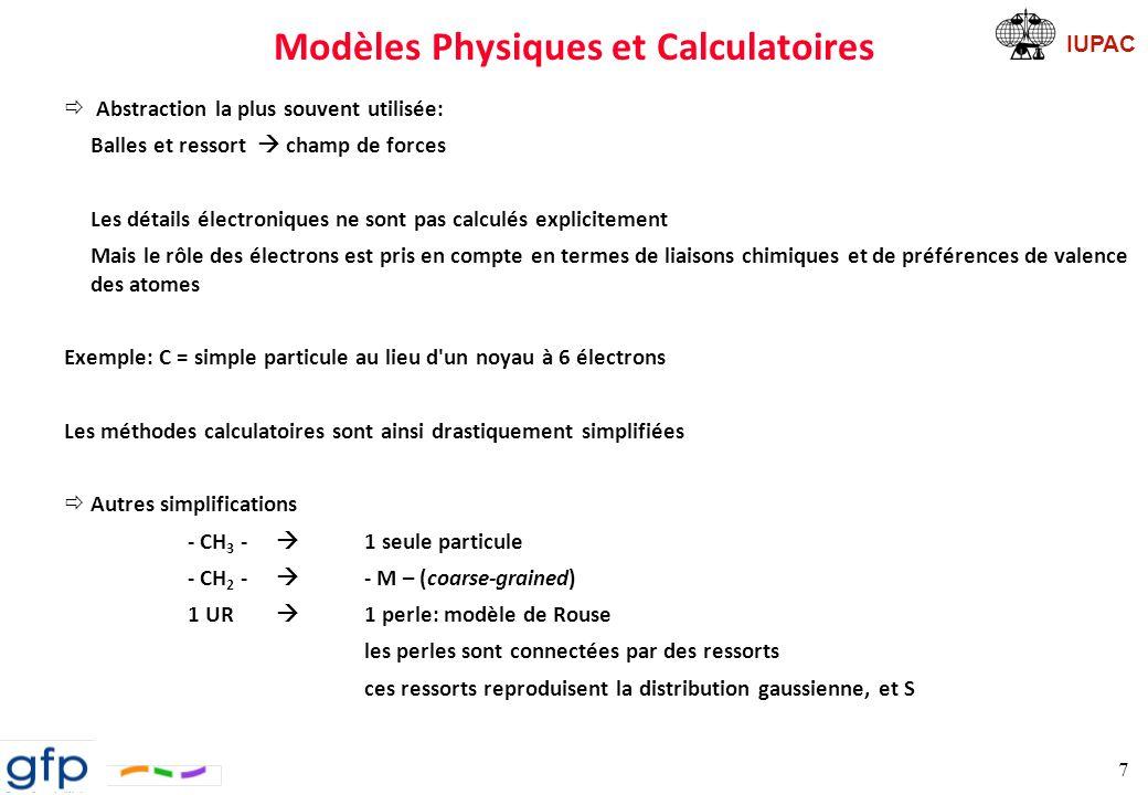 IUPAC Modèles Physiques et Calculatoires ð Modèle de réseau: à 2 ou 3 dimensions comparable au diamant On trouve les lois gouvernant le saut de toute particule MC 8 L.