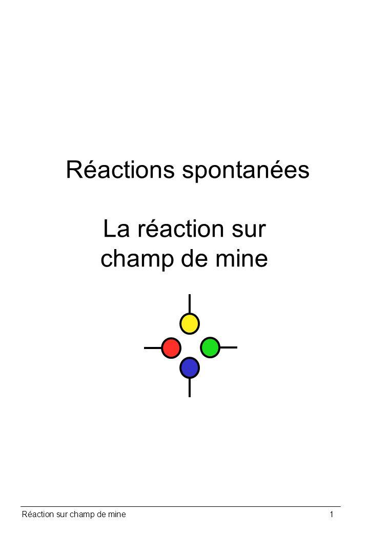 Réaction sur champ de mine1 Réactions spontanées La réaction sur champ de mine