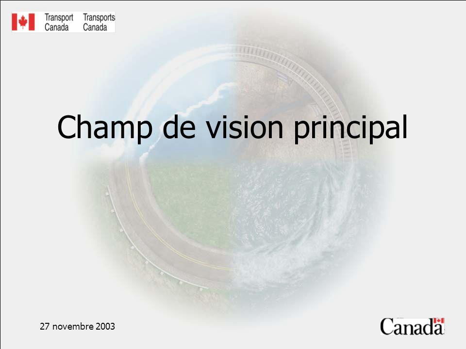 27 novembre 2003 Champ de vision principal