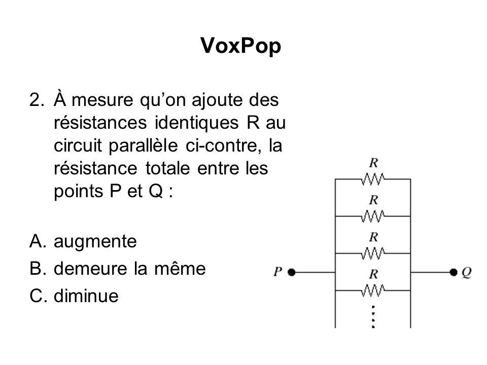 VoxPop 1.Les trois ampoules du circuit ci-contre ont la même résistance.