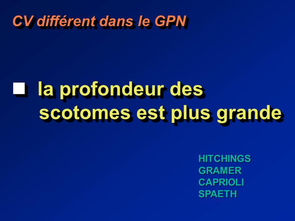 CV différent dans le GPN la profondeur des la profondeur des scotomes est plus grande scotomes est plus grande CV différent dans le GPN la profondeur des la profondeur des scotomes est plus grande scotomes est plus grande HITCHINGSGRAMERCAPRIOLISPAETH