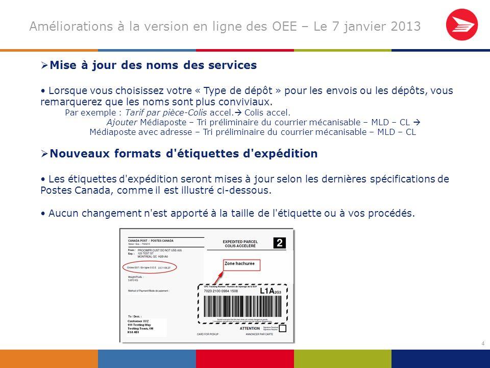 25 (suite) Les clients peuvent obtenir un aperçu des documents (DD et sommaire du plan de distribution).