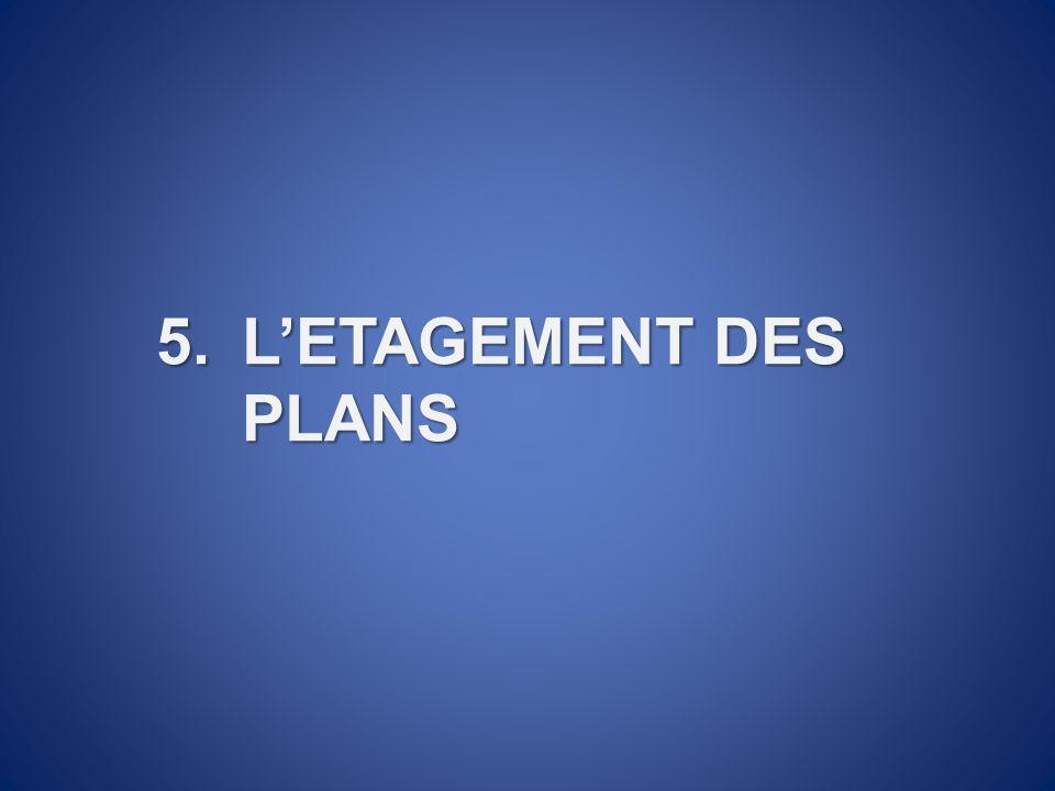 5.LETAGEMENT DES PLANS