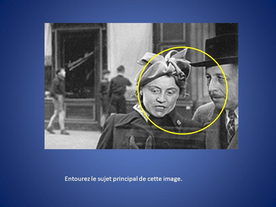 Où est placé le photographe.Comment est vu le personnage.
