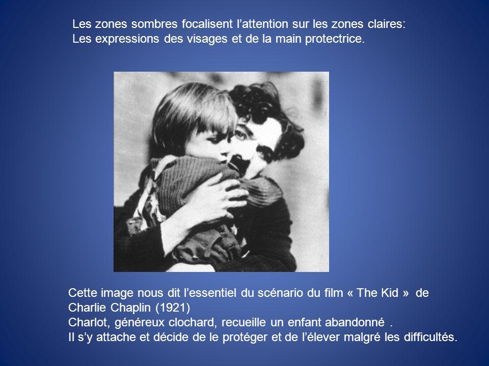 Cette image nous dit lessentiel du scénario du film « The Kid » de Charlie Chaplin (1921) Charlot, généreux clochard, recueille un enfant abandonné. I