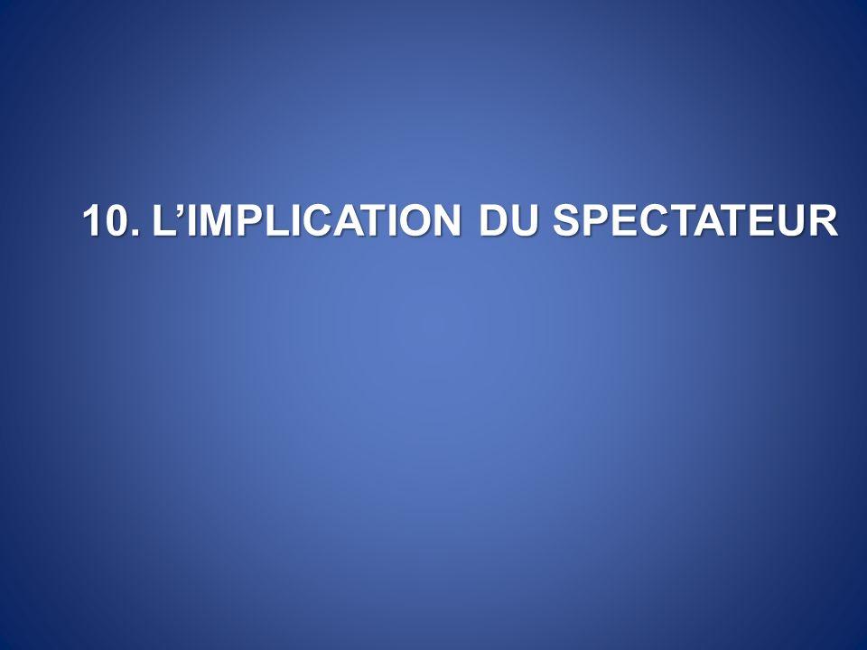 10.LIMPLICATION DU SPECTATEUR