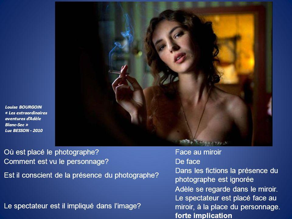 Où est placé le photographe? Comment est vu le personnage? Est il conscient de la présence du photographe? Le spectateur est il impliqué dans limage?