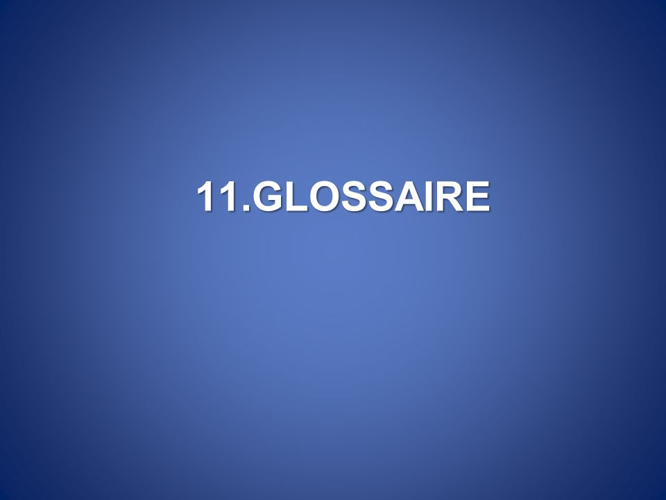 11.GLOSSAIRE