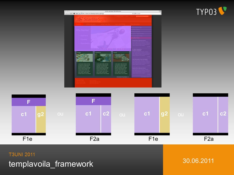 templavoila_framework T3UNI 2011 30.06.2011 F1e ou F2aF1e ou F2a ou