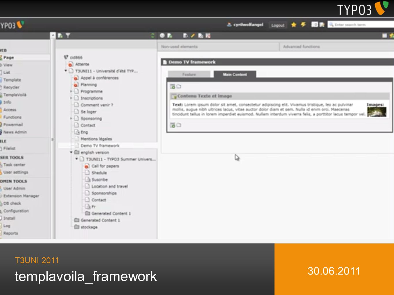 templavoila_framework T3UNI 2011 30.06.2011