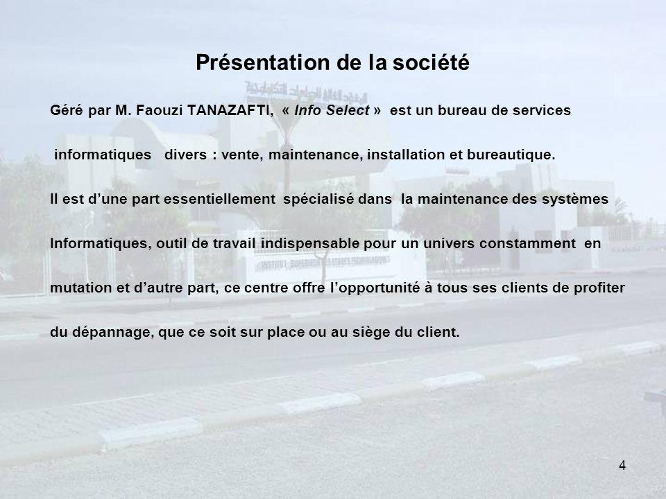 Présentation de la société Géré par M.