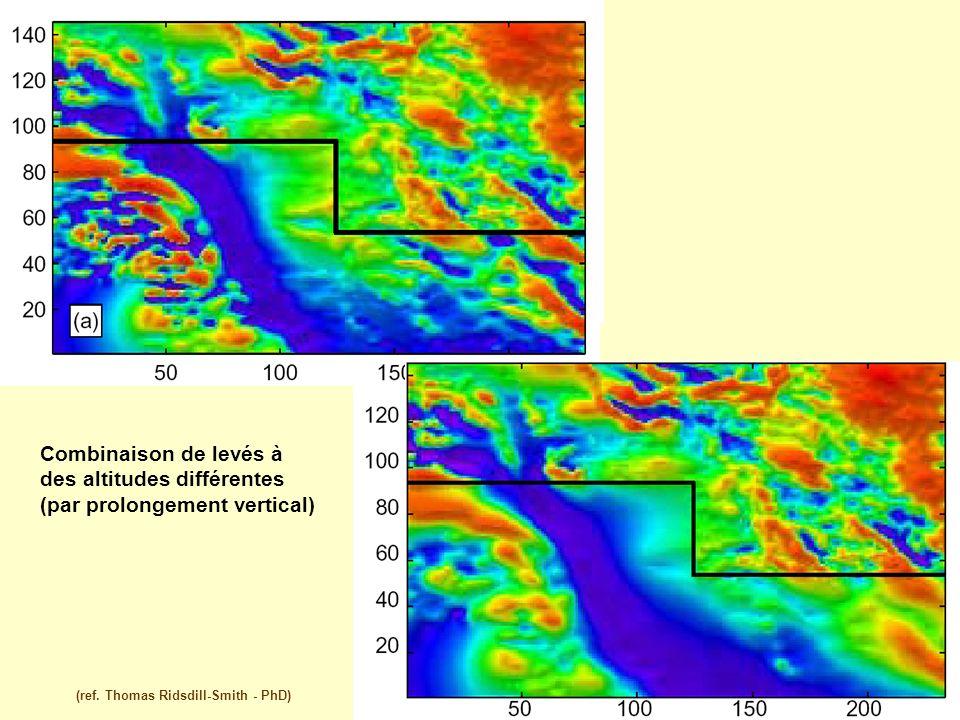 (ref. Thomas Ridsdill-Smith - PhD) Combinaison de levés à des altitudes différentes (par prolongement vertical)