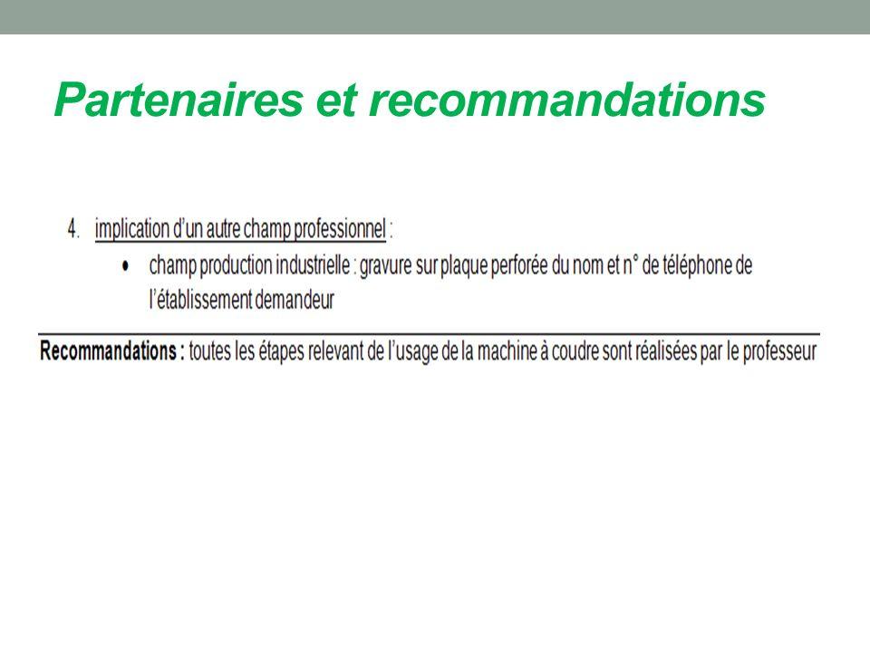Partenaires et recommandations