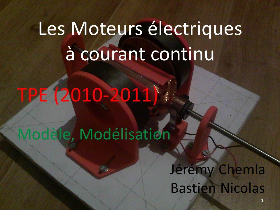 TPE (2010-2011) 1 Modèle, Modélisation Les Moteurs électriques à courant continu Jérémy Chemla Bastien Nicolas