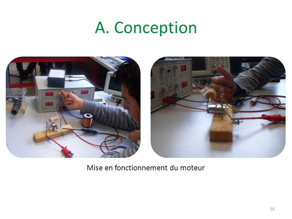 A. Conception 16 Mise en fonctionnement du moteur