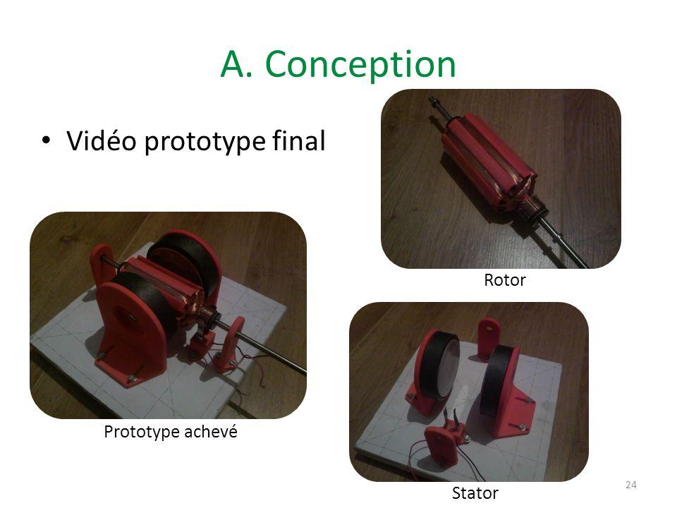 A. Conception Vidéo prototype final 24 2 ème moteur Rotor Stator Prototype achevé