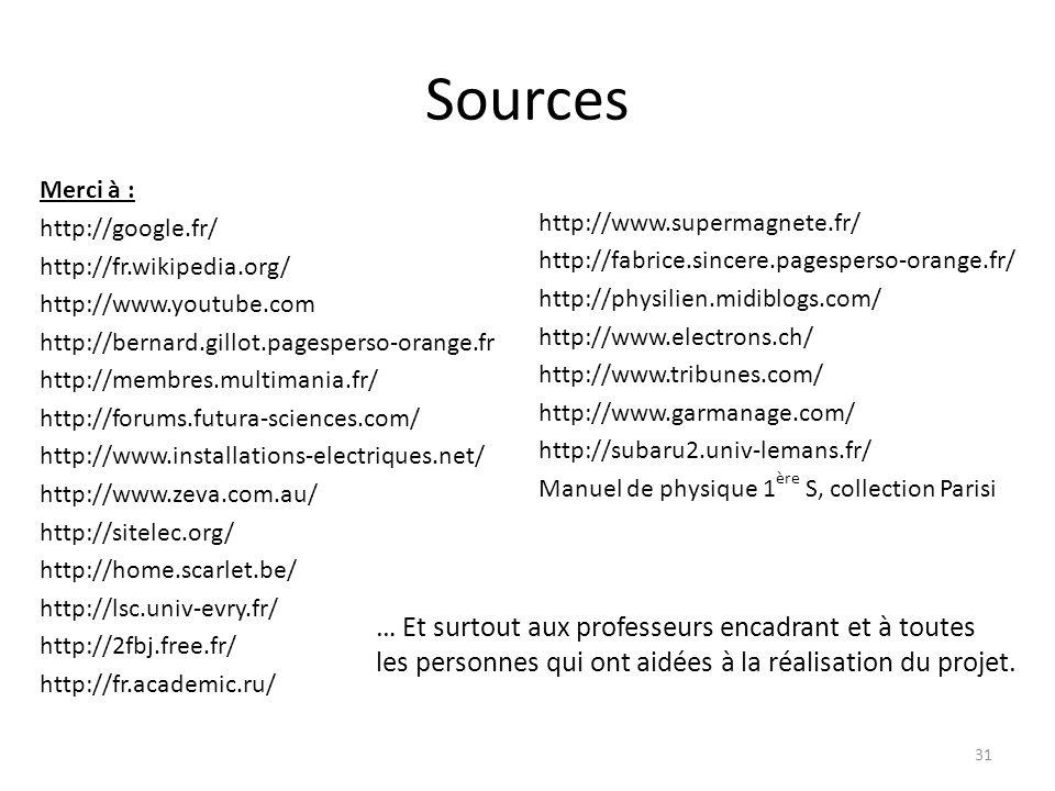 Sources Merci à : http://google.fr/ http://fr.wikipedia.org/ http://www.youtube.com http://bernard.gillot.pagesperso-orange.fr http://membres.multiman