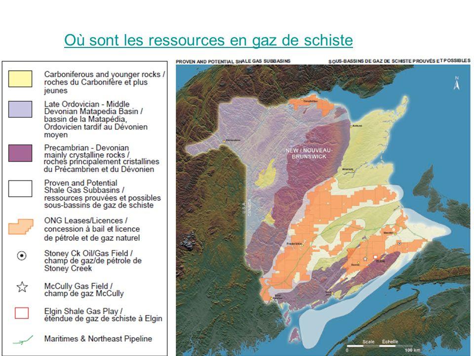 Où sont les ressources en gaz de schiste